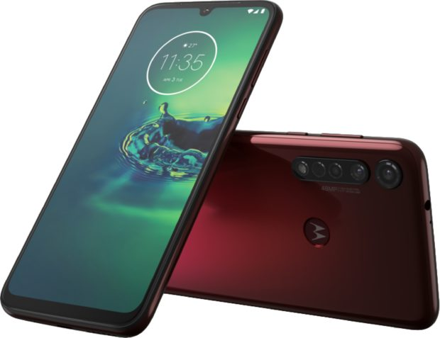 Moto rola Moto G8 Plus red overview