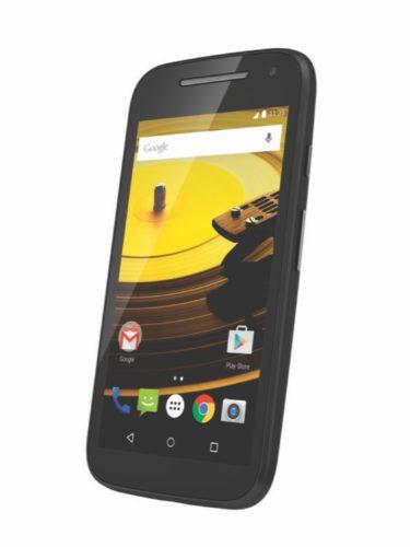 Motorola new Moto E lte zwart rechterzijkant schuin