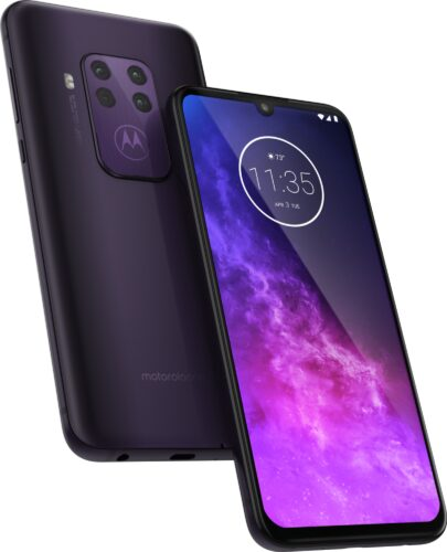 Motorola One Zoom púrpura visión general