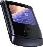 Motorola razr 5G nero copertina frontale lato sinistro in basso chiuso