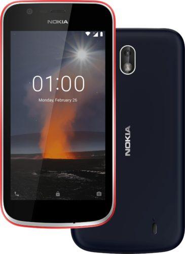 Nokia 1 rood blauw overzicht