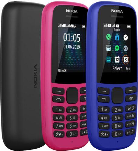 Nokia 105 2019 dual sim color overzicht