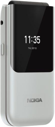 Nokia 2720 Flip weiß Vorderseite linke Seite geschlossen