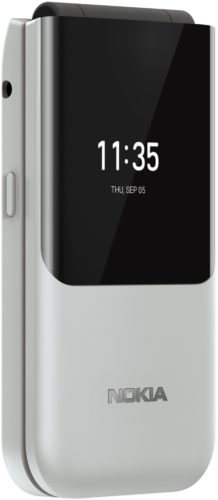 Nokia 2720 Flip white front left side closed