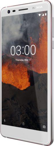 Nokia 3 1 wit voorkant rechterzijkant