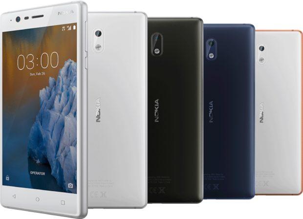 Nokia 3 kleuren overzicht