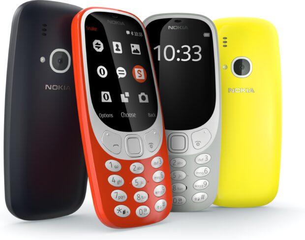 Nokia 3310 2017 kleuren overzicht
