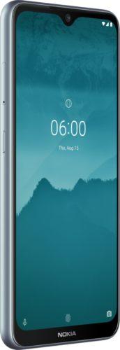 Nokia 6 2 silber Vorderseite linke Seite
