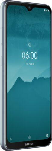 Nokia 6 2 argento copertina frontale lato sinistro