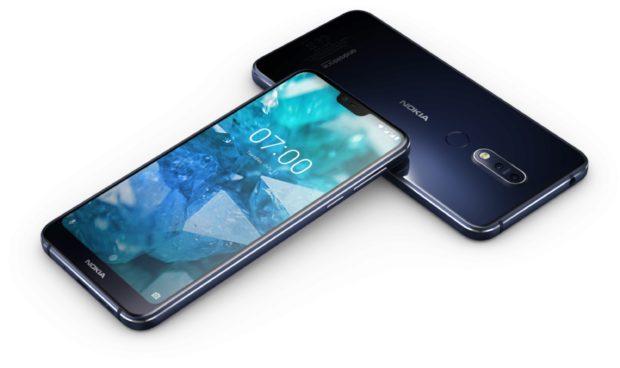 Nokia 7 1 blauw overzicht
