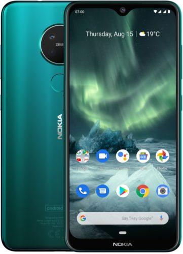 Nokia 7 2 groen overzicht
