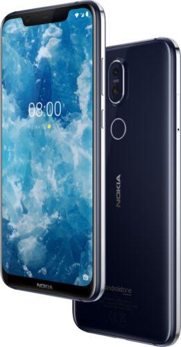 Nokia 8 1 blauw overzicht
