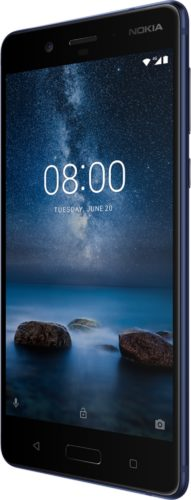Nokia 8 blue front right side