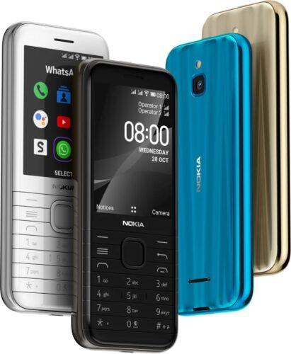 Nokia 8000 4G kleuren overzicht