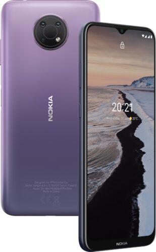 Nokia G10 viola panoramica