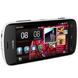 Nokia 808 PureView wit schuin horizontaal linkerzijkant
