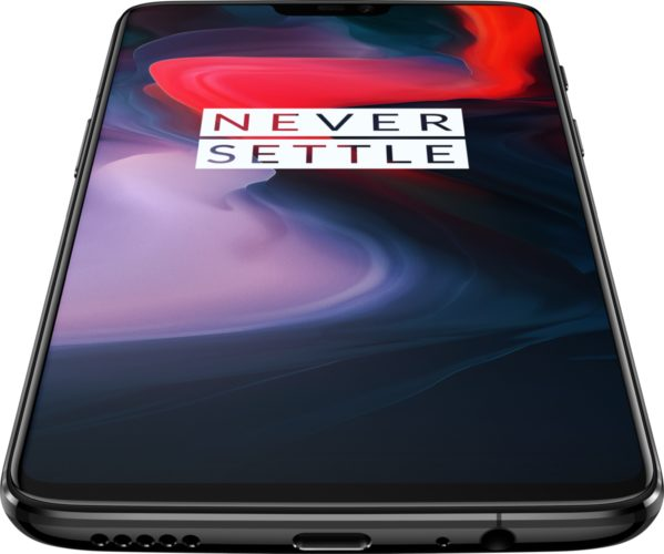 OnePlus 6 mirror black front bottom