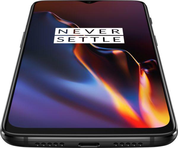 OnePlus 6T midnight zwart voorkant onderkant