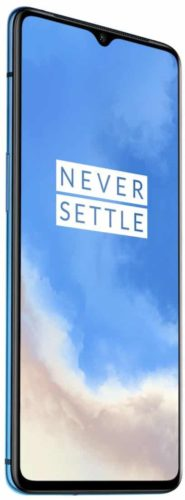OnePlus 7T blue front left side