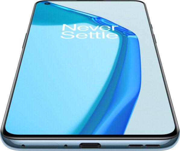 OnePlus 9 blauw voorkant onderkant