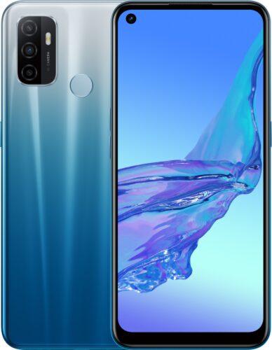 Oppo A53s blauw overzicht