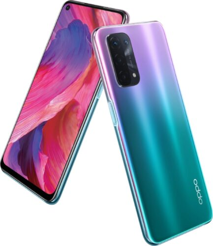 Oppo A54 5G viola panoramica