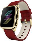 Pebble Time Steel gold red right side