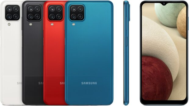 Samsung Galaxy A12 color panoramica