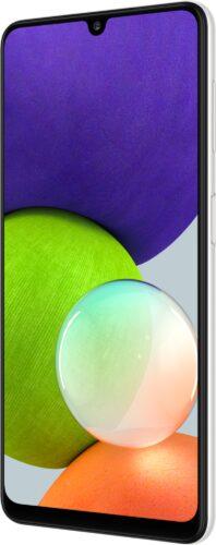 Samsung Galaxy A22 4G bianco copertina frontale lato destro