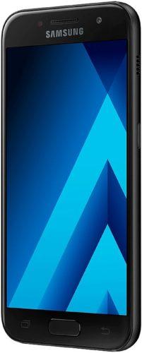 Samsung Galaxy a3 2017 zwart voorkant rechterzijkant