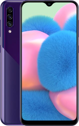 Samsung Galaxy A30s purple overview