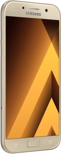 Samsung Galaxy a5 goud voorkant linkerzijkant