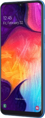 Samsung Galaxy A50 blue front right side