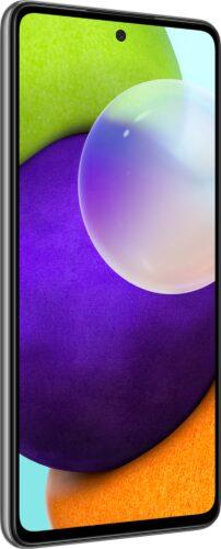 Samsung Galaxy A52 4G noir couverture côté gauche