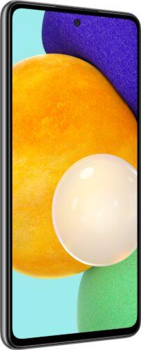 Samsung Galaxy A52 5G negro tapa delantera lado izquierdo