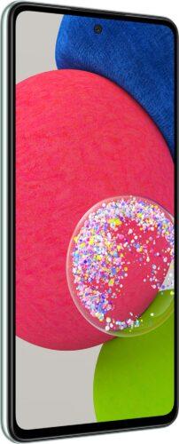Samsung Galaxy a52s vert couverture côté gauche