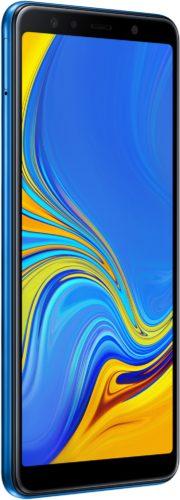 Samsung Galaxy a7 2018 blauw voorkant linkerzijkant