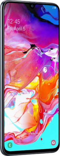 Samsung Galaxy A70 voorkant linkerzijkant zwart