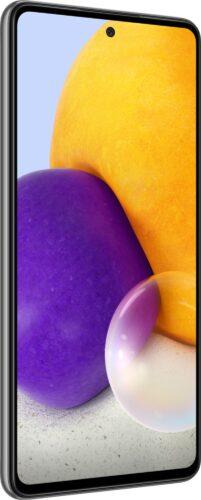 Samsung Galaxy A72 schwarz Vorderseite linke Seite