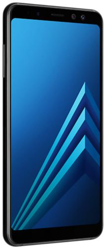 Samsung Galaxy a8 2018 duos black front left side
