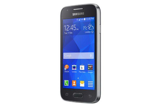 Samsung Galaxy Ace 4 LTE dynamic grijs schuin rechterzijkant