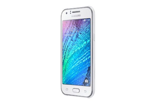 Samsung Galaxy i1 wit schuin rechterzijkant