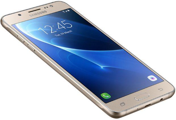 Samsung Galaxy j5 2016 goud schuin