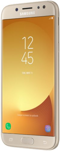 Samsung Galaxy j5 2017 duos goud voorkant rechterzijkant