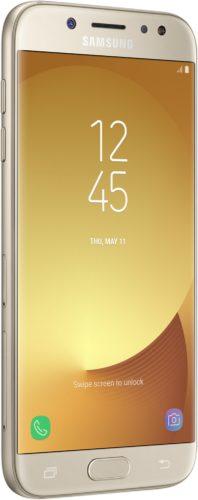 Samsung Galaxy j5 2017 goud voorkant linkerzijkant