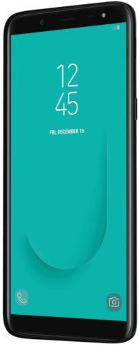 Samsung Galaxy J6 zwart voorkant rechterzijkant