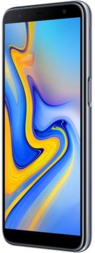 Samsung Galaxy j6 plus voorkant rechterzijkant grijs