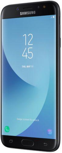 Samsung Galaxy j7 2017 duos zwart voorkant rechterzijkant