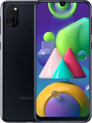 Samsung Galaxy M21 nero panoramica