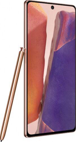 Samsung Galaxy note 20 bronzo panoramica